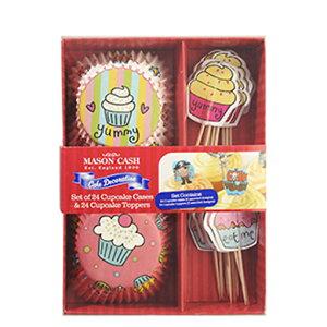 TOMIZ cuoca(富澤商店・クオカ)ケーキデザインカップ&飾りピック お菓子 / 24セット ベーキングカップ カップケーキ