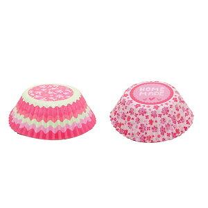 TOMIZ cuoca(富澤商店・クオカ)ケーキデザインカップ&飾りピック 手作り / 24セット ベーキングカップ カップケーキ