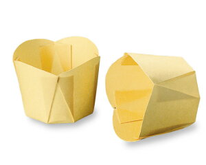 TOMIZ cuoca(富澤商店・クオカ)ペットチューリップ(クリーム) / 100枚 ベーキングカップ カップケーキ