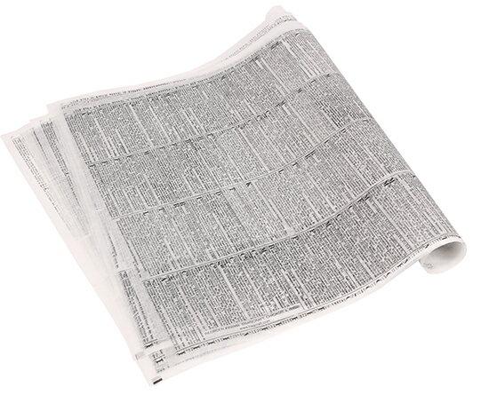 TOMIZ cuoca(富澤商店・クオカ)USAドライワックスペーパー ニュースペーパー柄 / 10枚 袋・ロール ワックスペーパー