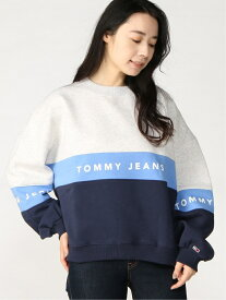 [Rakuten Fashion]TOMMY JEANS/TOMMY HILFIGER(トミーヒルフィガー) カラーブロッククルー TOMMY JEANS トミーヒルフィガー カットソー スウェット グレー ネイビー【送料無料】