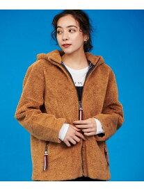 [Rakuten Fashion]テディフーデッドジャケット TOMMY HILFIGER トミーヒルフィガー コート/ジャケット ブルゾン ブラウン ホワイト【送料無料】