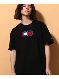 【SALE/40%OFF】(M)TOMMY HILFIGER(トミーヒルフィガー) Timeless T ロゴTシャツ TOMMY HILFIGER トミーヒルフィガー カットソー Tシャツ ブラック ホワイト【RBA_E】[Rakuten Fashion]