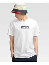 [Rakuten Fashion]【SALE/50%OFF】(M)TOMMY HILFIGER(トミーヒルフィガー) ボックスロゴTシャツ TOMMY HILFIGER トミーヒルフィガー カットソー Tシャツ ホワイト【RBA_E】