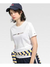 [Rakuten Fashion]【SALE/50%OFF】(W)TOMMY HILFIGER(トミーヒルフィガー)/ フラッグロゴTシャツ TOMMY HILFIGER トミーヒルフィガー カットソー Tシャツ ホワイト【RBA_E】