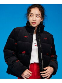 [Rakuten Fashion](W)TOMMY HILFIGER(トミーヒルフィガー) ロゴコーデュロイパファージャケット TOMMY JEANS トミーヒルフィガー コート/ジャケット ダウンジャケット ブラック ベージュ【送料無料】