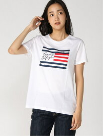 [Rakuten Fashion]【SALE/50%OFF】(W)TOMMY HILFIGER(トミーヒルフィガー) W THD INDEPENDENCE TEE TOMMY HILFIGER トミーヒルフィガー カットソー Tシャツ ホワイト ネイビー【RBA_E】