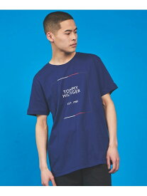 【SALE/50%OFF】(M)TOMMY HILFIGER(トミーヒルフィガー) 1985ロゴTシャツ TOMMY HILFIGER トミーヒルフィガー カットソー Tシャツ ブルー ホワイト【RBA_E】[Rakuten Fashion]
