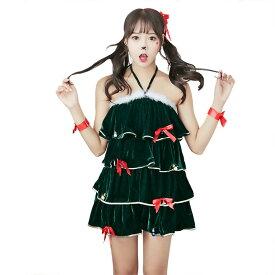 【4/緑】あす楽 白ファー クリスマス サンタ コスプレ 衣装 レディース コスチューム サンタ 大人 コス セクシー コスプレ 変装 仮装