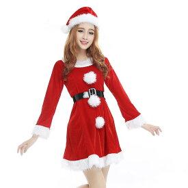 a705f748181ec  3 赤 あす楽 長袖 サンタコスチューム クリスマス コスプレ衣装 レディース 大人 コス