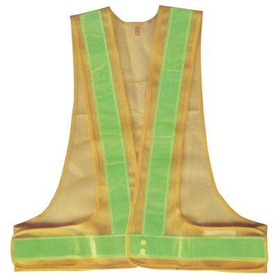 A-AB102 安全ベスト 反射ベスト フリーサイズ 黄/黄(メッシュ部:黄/反射部:黄) 反射部50巾