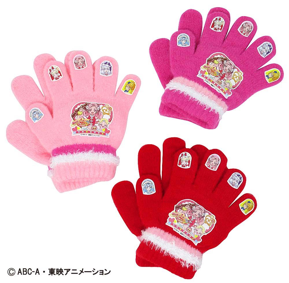 HUGっと!プリキュア ニット手袋 (日本製 国産 防寒 かわいい プリキュア おすすめ 子供 ぽかぽか キャラクター)