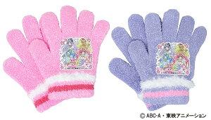 2019年度モデルスタートゥインクルプリキュア ニット手袋 (日本製 国産 防寒 かわいい おすすめ 子供 ぽかぽか キャラクター)