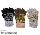 『 くまのプーさん 』デザイン ふわもこ手袋二重 手袋 (防寒 あったか 婦人 レディース)