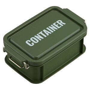 コンテナ ランチボックス お弁当箱 1段 450ml 仕切付 男子 レンジ対応 食洗機対応 おしゃれ カーキ 日本製 OSK CNT-450