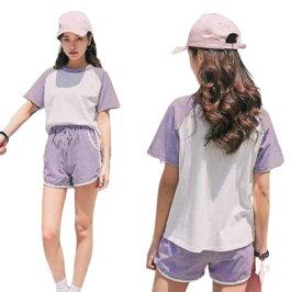 送料無料 レディース カジュアルパンツセット セットアップ スウェットセット 上下セット Tシャツ 半袖 ショートパンツ ゆったり ルームウェア パジャマ ゆったり 着痩せ 部屋着 普段着 春夏 黒 ピンク 紫 グレーS〜XXLcpc