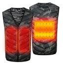 電熱ベスト 防寒ベスト ヒートベスト 10秒即暖 電熱ジャケット USB加熱 春秋冬用 3段温度調節 お腹・背中に 暖かい リンパ循環 血液循…