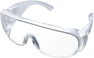 保護メガネ 安全ゴーグル 目を保護 透明 保護めがね 近視メガネ併用可 通気 防護ゴーグル 花粉症と細菌と飛沫対策(クリア)