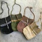 オリジナルヘンプ編みバック!ラオス/タイ/葛の繊維/ショルダーバック/とんぱ