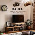 ヴィンテージ伸縮テレビ台【BALKA-バルカ-】コーナーローボードリビング収納シャビーオークウォールナット【代引き不可】