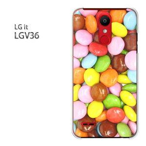 ゆうパケット送料無料 LG it LGV36au lgit lgv36スマートフォン おしゃれ 人気 カワイイアクセサリー スマホケース カバー ハード ポリカーボネート[スイーツ・マーブルチョコ(ピンク・黄)/lgv36-pc-n