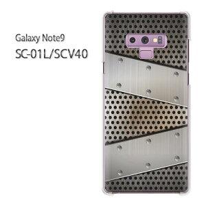 ゆうパケ送料無料 Galaxy Note9 SC-01L SCV40sc01l scv40 ギャラクシー ノート9 ドコモ auクリア 透明 スマホケース カバー ハード ポリカーボネート[シンプル・メタル(シルバー)/sc01l-pc-new1366]