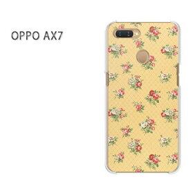 ゆうパケット送料無料 OPPO AX7楽天モバイル ax7 ケース カバークリア 透明 ハードケース ハードカバーアクセサリー スマホケース スマートフォン用カバー [花(黄)/ax7-pc-ne035]