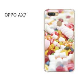 ゆうパケット送料無料 OPPO AX7楽天モバイル ax7 ケース カバークリア 透明 ハードケース ハードカバーアクセサリー スマホケース スマートフォン用カバー [スイーツ・マシュマロ(白)/ax7-pc-ne045]