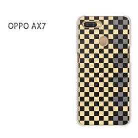 ゆうパケット送料無料 OPPO AX7楽天モバイル ax7 ケース カバークリア 透明 ハードケース ハードカバーアクセサリー スマホケース スマートフォン用カバー [チェック(黄)/ax7-pc-ne320]