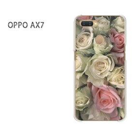 ゆうパケット送料無料 OPPO AX7楽天モバイル ax7 ケース カバークリア 透明 ハードケース ハードカバーアクセサリー スマホケース スマートフォン用カバー[花・バラ(白・ピンク)/ax7-pc-new0346]