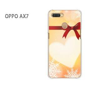 ゆうパケット送料無料 OPPO AX7楽天モバイル ax7 ケース カバークリア 透明 ハードケース ハードカバーアクセサリー スマホケース スマートフォン用カバー[ハート・リボン(オレンジ)/ax7-pc-new0564]