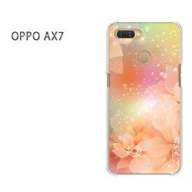 ゆうパケット送料無料 OPPO AX7楽天モバイル ax7 ケース カバークリア 透明 ハードケース ハードカバーアクセサリー スマホケース スマートフォン用カバー[花・キラキラ(オレンジ)/ax7-pc-new0681]