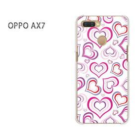 ゆうパケット送料無料 OPPO AX7楽天モバイル ax7 ケース カバークリア 透明 ハードケース ハードカバーアクセサリー スマホケース スマートフォン用カバー[ハート(白)/ax7-pc-new1068]