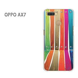 ゆうパケット送料無料 OPPO AX7楽天モバイル ax7 ケース カバークリア 透明 ハードケース ハードカバーアクセサリー スマホケース スマートフォン用カバー[シンプル・ウッド(白)/ax7-pc-new1829]