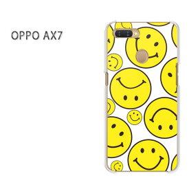 ゆうパケット送料無料 OPPO AX7楽天モバイル ax7 ケース カバークリア 透明 ハードケース ハードカバーアクセサリー スマホケース スマートフォン用カバー[キャラ・ニコ(黄)/ax7-pc-new1909]