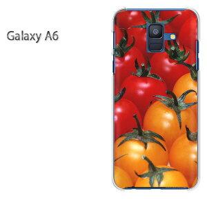 ゆうパケ送料無料 Galaxy A6 ケースギャラクシー a6 GALAXYクリア 透明 ハードケース ハードカバーアクセサリー スマホケース スマートフォン用カバー[スイーツ・トマト(赤・黄)/galaxya6-pc-new0866]