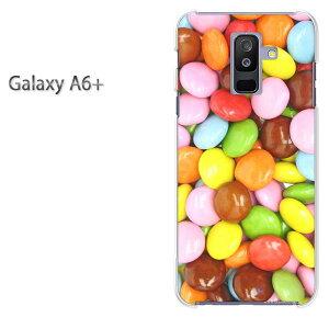 ゆうパケ送料無料 Galaxy A6+ ケースギャラクシー a6 plus GALAXY A6PLUSクリア 透明 ハードケース ハードカバーアクセサリー スマホケース スマートフォン用カバー [スイーツ・マーブルチョコ(ブ