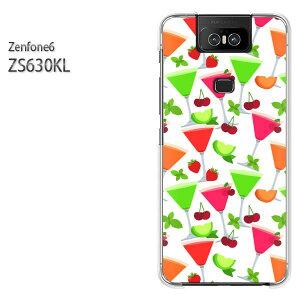 ゆうパケ送料無料 ZenFone6 ZS630KL ゼンフォンASUS zenfon6アクセサリー スマホケース カバー ハード ポリカーボネート[スイーツ・さくらんぼ(白)/zs630kl-pc-new1052]