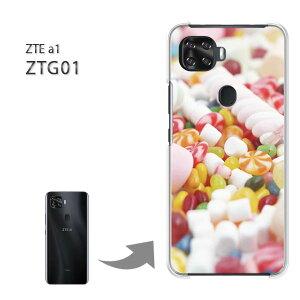 ゆうパケ送料無料 ZTE a1 ZTG01 ケースztg01 ztea1 PCケース おしゃれ 人気 カワイイアクセサリー スマホケース カバー ハード ポリカーボネート[スイーツ・マシュマロ(白)/ztg01-pc-new0398]