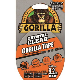 KURE ゴリラテープ クリスタルクリア クリアタイプ 強力多様補修テープ  48mm×8.2m 厚さ0.18mm