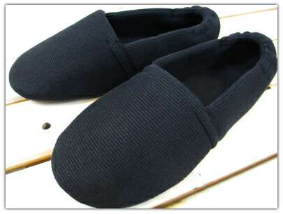 靴下感覚のふんわりルームシューズ ニットタイプ ブラック/S〜3Lサイズ