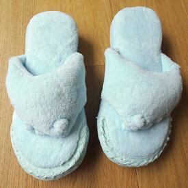 【メンズ】足つぼ五本指(5本指)スリッパ 洗えるパイル地 ユビゴロー ブルー/男性用
