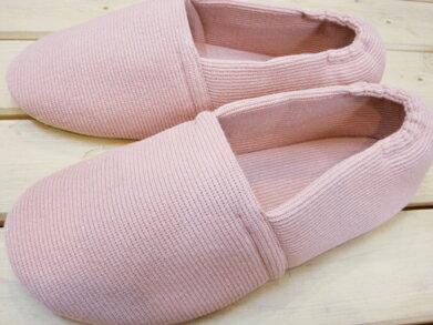 靴下感覚のふんわりルームシューズ ニットタイプ ベビーピンク/S〜Lサイズ