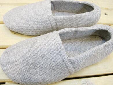 靴下感覚のふんわりルームシューズ ニットタイプ グレー/S〜3Lサイズ