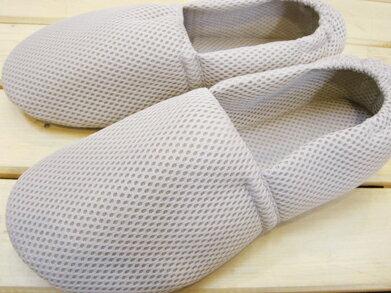 靴下感覚のふんわりルームシューズ メッシュタイプ グレー/S〜3Lサイズ