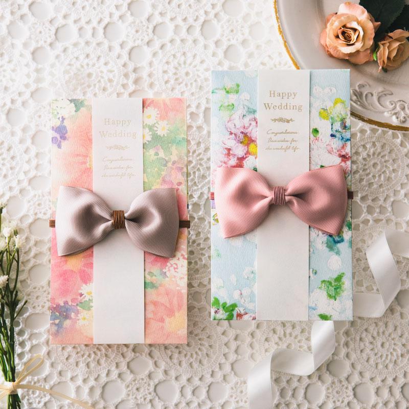 花を贈るご祝儀袋 Sweet Garden 結婚式 御祝儀袋 のし袋 金封 かわいい おしゃれ デザイナー WORLD1 ワールドワン ggs-01-02