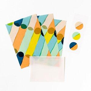 ミニレターセット《JUICE》Usual かわいい ミニサイズ レターセット 手紙 雑貨 ブランド AIUEO letter set 封筒 便箋 キュートAJLM-02