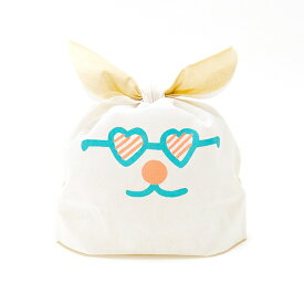 ラッピング 袋 不織布 おしゃれ クリスマス AIUEO かわいい キッズ ベビー 子供 誕生日 プレゼント ギフト USAGIFT VANILAN 白 ホワイト うさぎ スモールサイズ 大きい 包装 うさギフト (UGS-02)