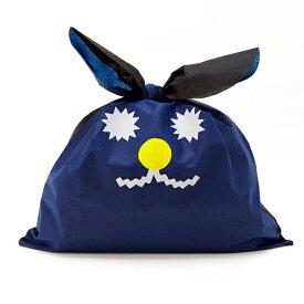 ラッピング 袋 おしゃれ 特大 クリスマス AIUEO かわいい キッズ ベビー 子供 誕生日 プレゼント ギフト USAGIFT TSUKKY ネイビー 男の子 女の子 うさぎ ビッグサイズ 大きい 包装 うさギフト (UGB-02)