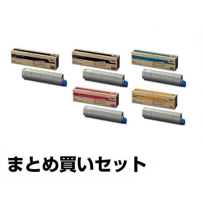 沖データ OKI TNR-C3LK2/C2/M2/Y2トナーカートリッジ 4色大容量/ブラック黒2本/シアン/マゼンタ/イエロー 純正 C811dn、C811dn-T、C841dn、MC863dnw、MC863dnwv、MC883dnw、MC883dnwv、MC843dnw、MC843dnwv 用トナー